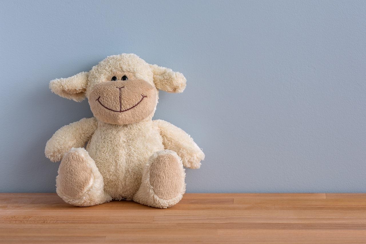 Teddy an der Wand